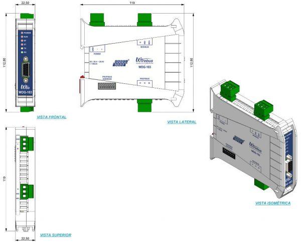 Gateway-Profibus-DP-Modbus-RTU-WDG-103-4
