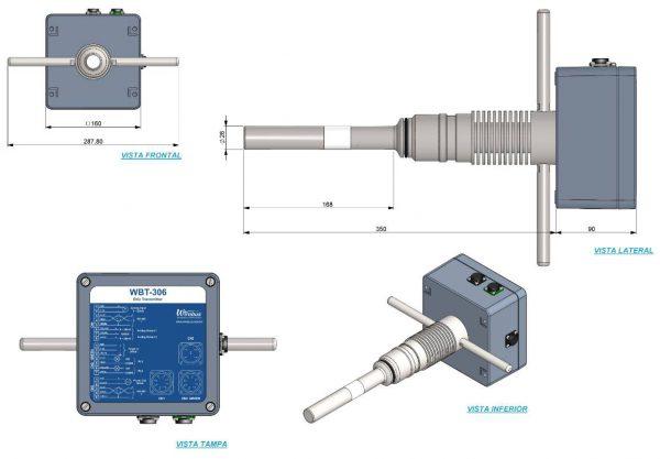 Transmissor-Brix-Concentração-Rádio Frequência-WBT-306-4